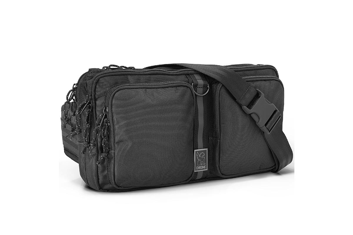 Chrome MXD Segment Sling Bag Crossbody or Waistpack 9 Liter Black