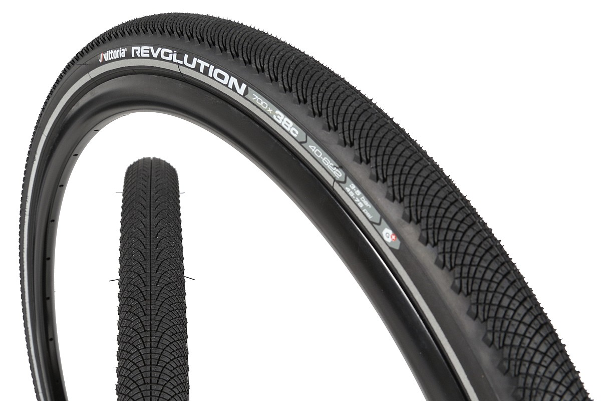 Black-Reflective 29 x 2.0 Vittoria Revolution Tech Rigid Tyre