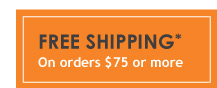Free Shipping on Orders Over 75-dollars