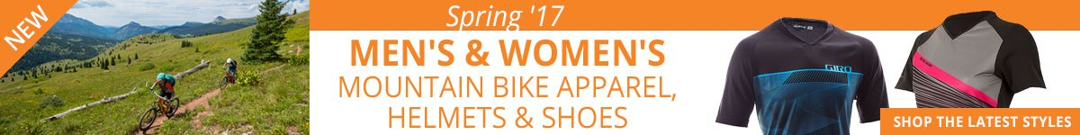 Spring 2017 Mens and Womens MTB Apparel, Helmets and Shoes