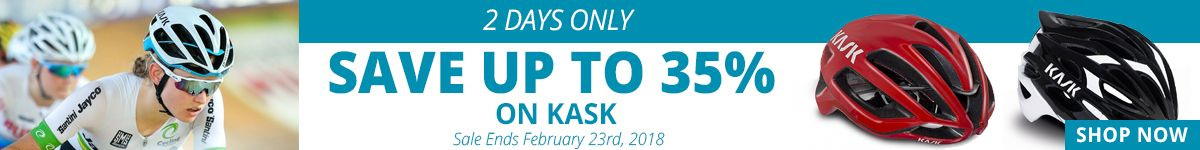 2 Days Only - Save up to 35% on Kask Helmets - Sale Ends February 23rd, 2018