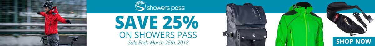 Save 25% on Showers Pass - Sale Ends March 25th, 2018