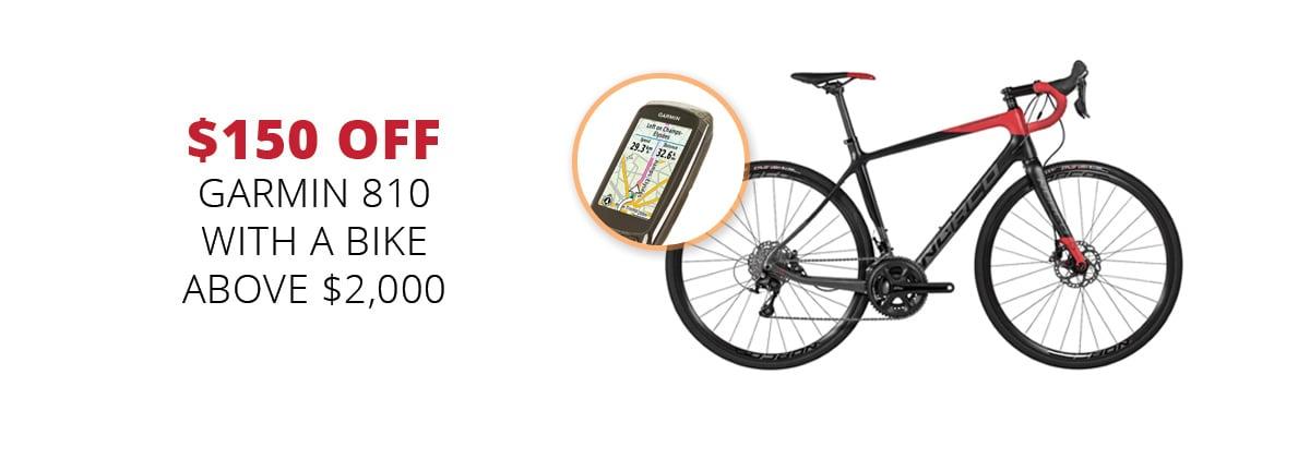 $150 off Garmin 810 with a bike above $2,000