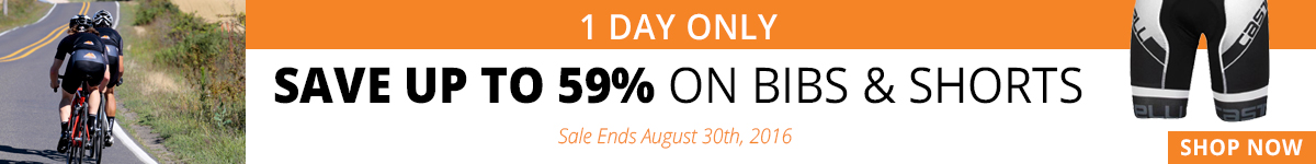 1 Day Only - Save Up to 59% on Bibs & Shorts