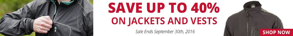 Save Up to 40% on Jackets & Vests