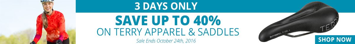3 Days Only - Save Up to 40% on Terry Apparel & Saddles